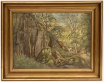 Carl Petersen (1866 - 1930) O/C Landscape