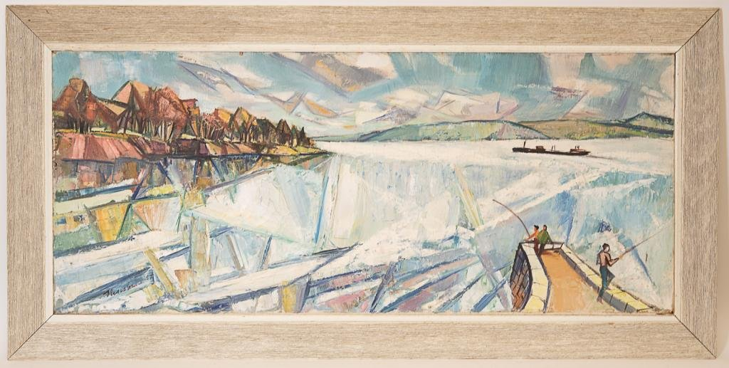 Ervin Nussbaum (1914 - 1996) Landscape O/C