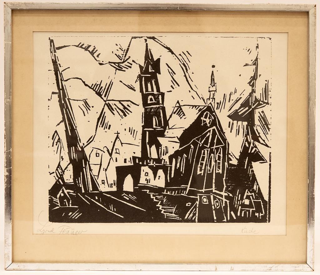 Lyonel Feininger (1871–1956) Framed Woodcut Print