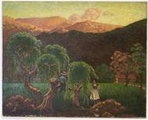 Mexican Landscape O/C, Signed J. Gibbs