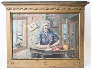 Antique Portrait Oil Painting Signed Le Roy