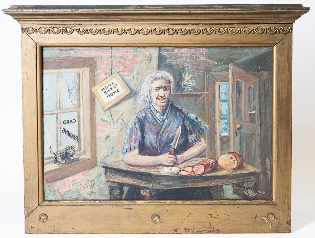 Antique Portrait Oil Painting, Signed Le Roy