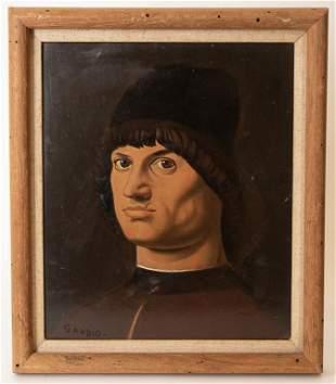 Signed Portrait of a Man After Raphael
