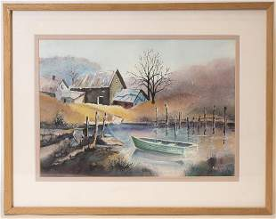 Anthony X Wisowaty Framed Landscape
