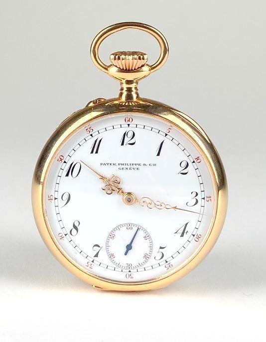 18k Gold Patek Philippe Open Face Pocket Watch