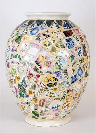 Atlantic Mold Co Artisan Mosaic Ceramic Pottery Vase
