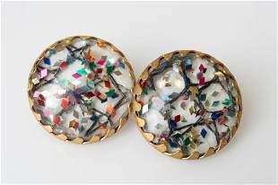Sarah Coventry Mardi Gras ClipOn Earrings