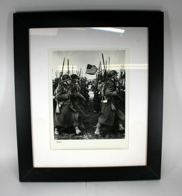 Troops Preparing For D Day Military Photo w/ COA