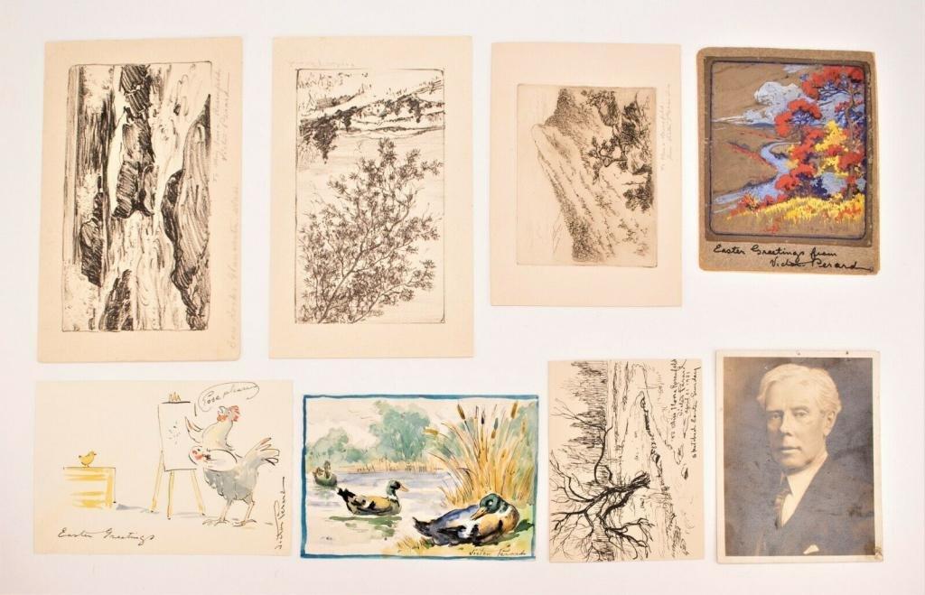 Victor Perard (1870 - 1957) Paintings & Etchings