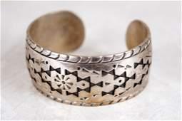 Native American Silver Cuff Bracelet Manuel Begay