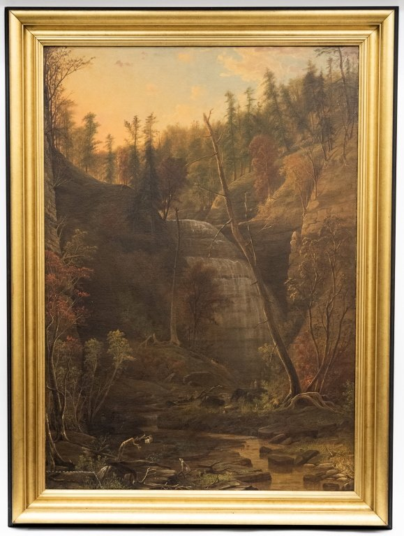 Isaac Wilbur (- 1881) Waterfall and Forest Landscape