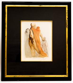 Salvador Dali Signed Artist Proof, Purgatory 5