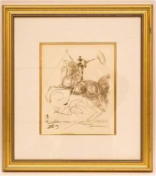 "Salvador Dali - ""Don Quixote"" Lithograph"