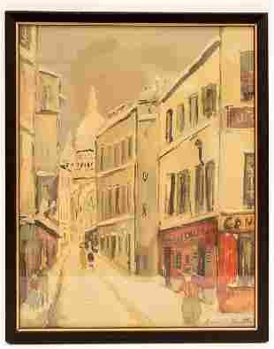 Maurice Utrillo Framed Street Scene Print, France