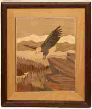 Jeff Nelson, Hudson River Inlay Marquetry, Eagle