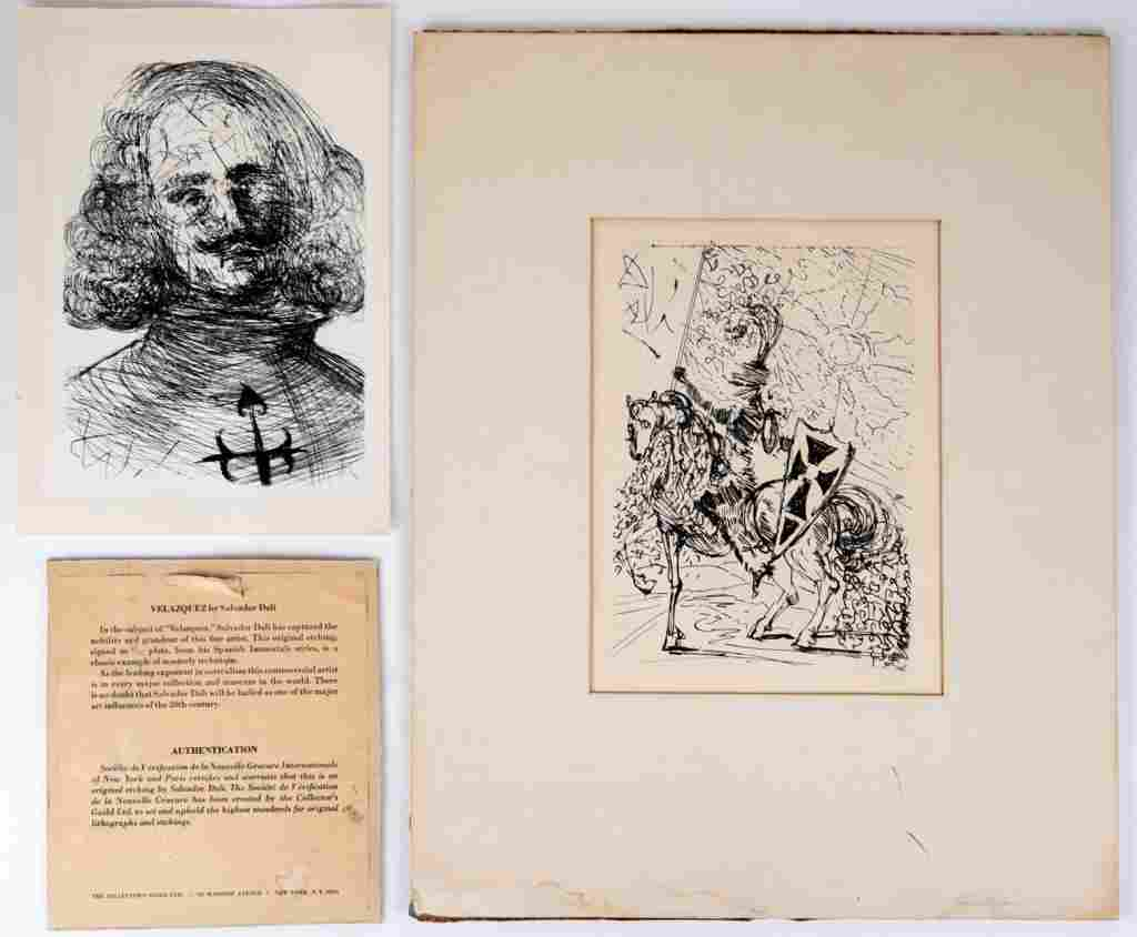 Two Salvador Dali (1904-1989) Etchings
