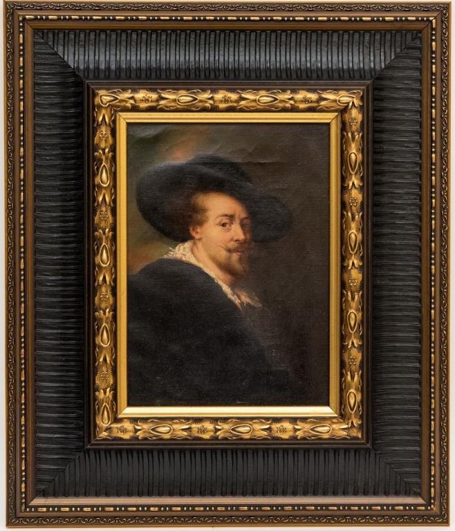 Rembrandt School Portrait of Peter Paul Rubens