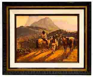 Bill Bender (1919 - 2016) Western Landscape