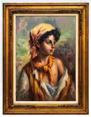 S. Hilgle (20th Century) Portrait of a Gypsy Girl