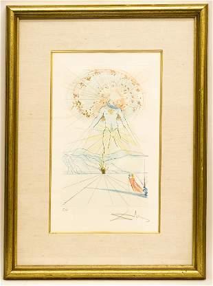 Salvador Dali, Bridegroom Leaps Upon the Mountains