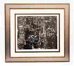 Rudy Pozzatti (American 1925), Night in Etruria