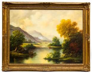 "Paul Wesley ""Lake Fishing in the Catskills"""