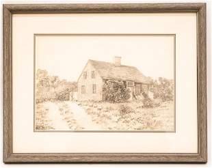 Signed Pencil Drawing, J.E. Hickson