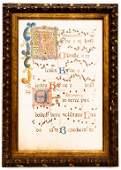 Illuminated Manuscript Music Gregorian Chant