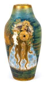 Teplitz RSTK Art Nouveau Porcelain Vase