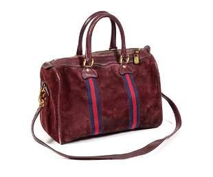 Vintage Gucci Speedy Suede Handbag