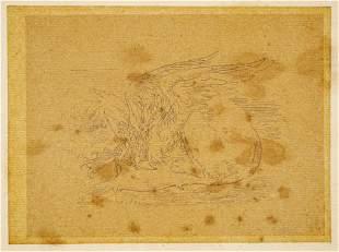 John Tenniel Alice in Wonderland Gryphon Drawing