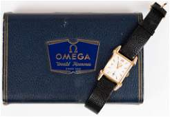 Mens 14k Omega Watch  Box