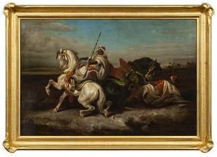 Arabian Cavalry Battle Scene, After Adolf Schreyer