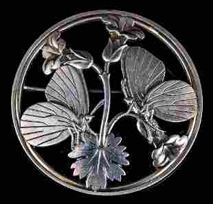 Georg Jensen Sterling #238 Butterfly Brooch