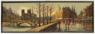 Impressionist Street Scene, Signed Georges