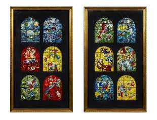 Pair of Marc Chagall Window Prints Framed