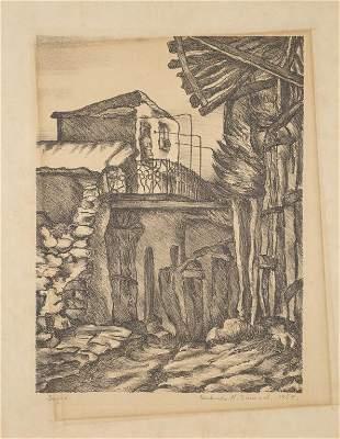 Gertrude K. Samuel, Pencil Signed Lithograph