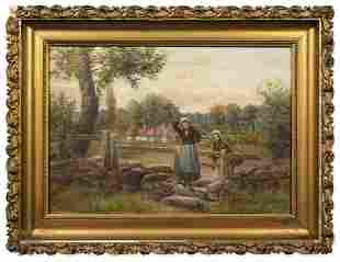 Henry Rollet (19th century) Oil Painting