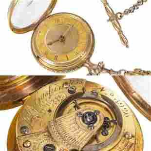John Gaskin Dublin 18k Gold Pocket Watch