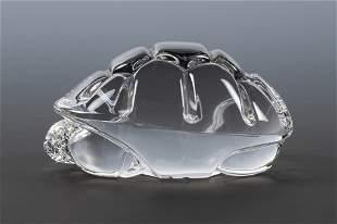 Steuben Crystal Turtle Hand Cooler