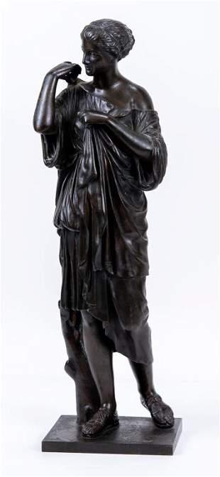 J. Brault French Art Deco Bronze