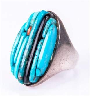 Pete Sierra Navajo Sterling & Turquoise Ring