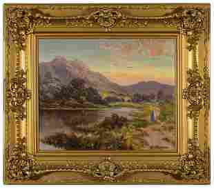 Alfred Horford R.W.A. Mountainscape Oil Painting