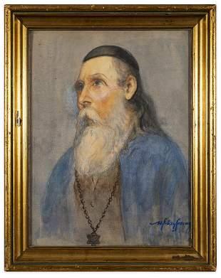 Ferenc Uvjary (1898 -1974) Portrait of a Rabbi