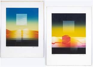 Carlos Davila (Born 1935) Signed Pair Lithographs
