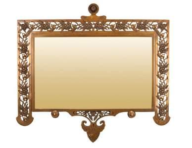 Art Nouveau Aesthetic Movement Bronze Mirror