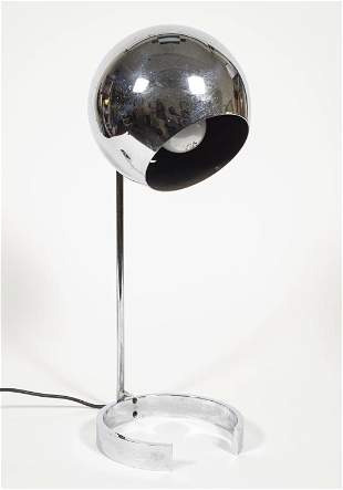 Mid-Century Chrome Eyeball Desk Lamp
