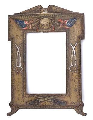 Antique Civil War Painted Metal Frame
