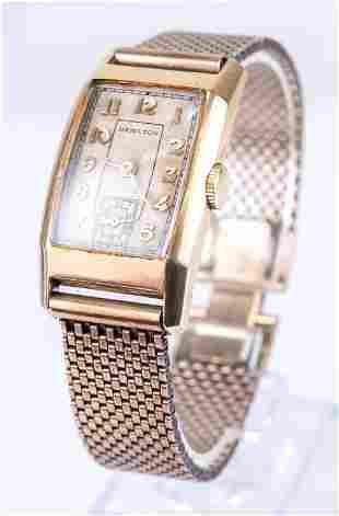 Vintage Men's Hamilton Gold Filled Wristwatch