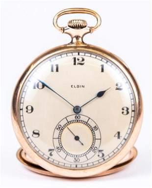 Antique Elgin Gold-Filled Pocket Watch